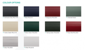 Roller Garage Door Colour Options from FCDHomeImprovements.co.uk