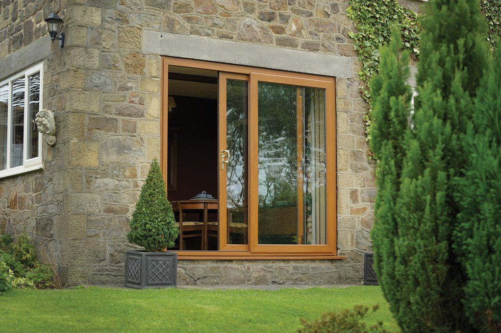 Sliding Patio Door Wood Effect Upvc From Fcdhomeimprovements