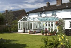 Coupling styles of conservatories a T Shape takes the bold shape from an Edwardian conservatory while adding the space of a Lean to conservatory.