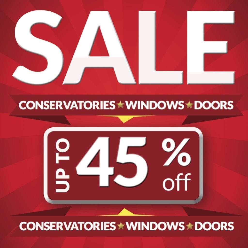 Sale poster from FcdHomeimprovements.co.uk