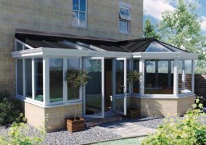This solid lightweight composite conservatory roof system is the perfect marriage  of modern materials onto classic designs
