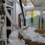 snow damaged conservatory roof