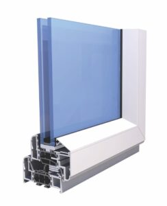 Image showing a section of an Aluminium Double Glazed Window